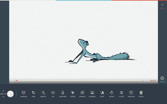 Editing Video on Filmora go on Chromebook