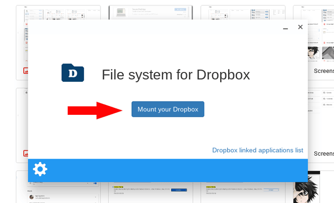 Mounting Dropbox to filemanager