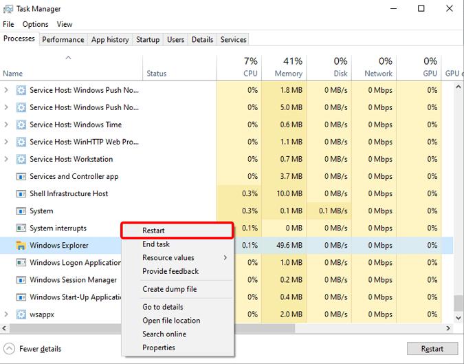 restart-explorer-in-windows-task-manager