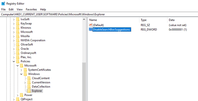 disable-bing-in-search-registry-key