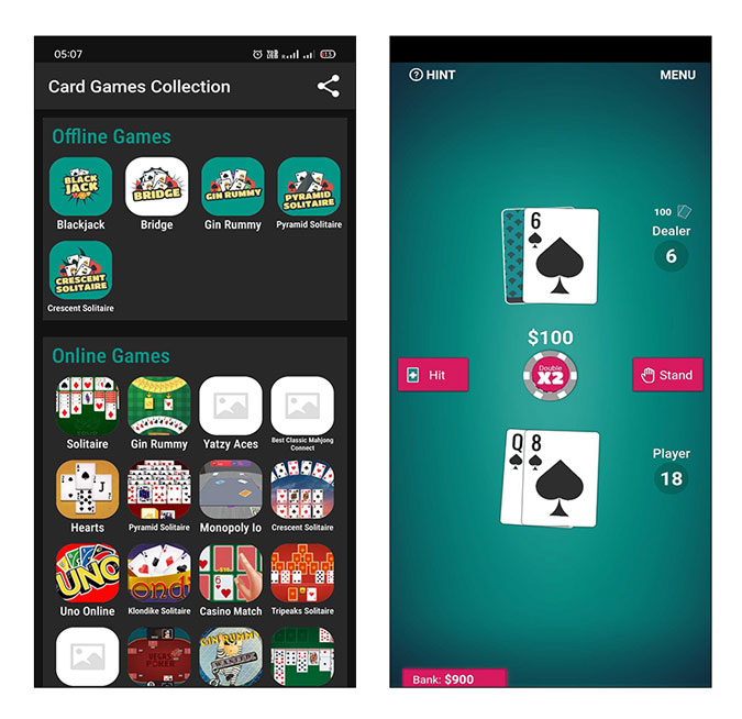 card games for android