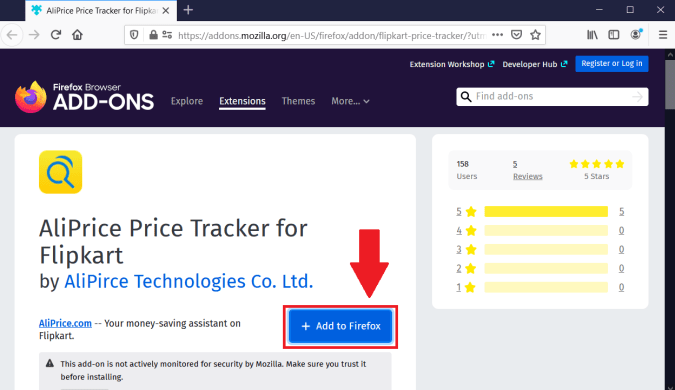 Flipkart Price Tracker Extension for Firefox & Google Chrome
