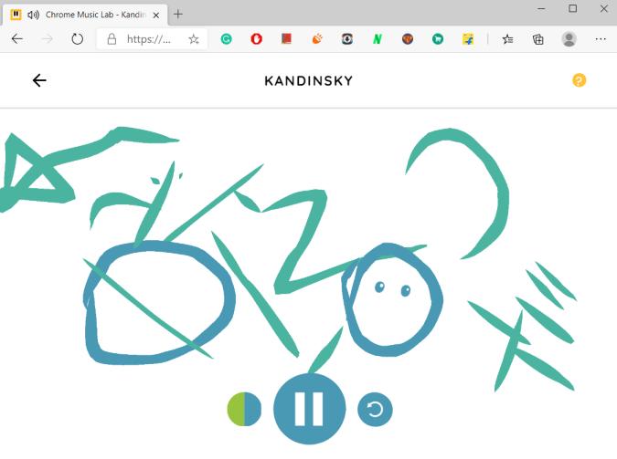 Kadinsky in Chrome Music Lab