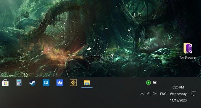 move taskbar above or below desktop