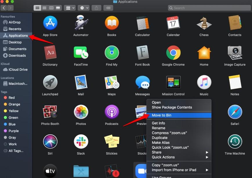 uninstall zoom on macOS