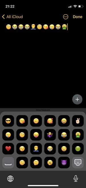 emoji keyboard with keys replaced with emojis