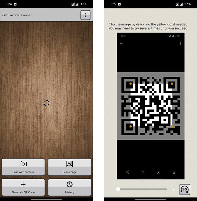 Scanning QR Code from Image with Barcode Scanner
