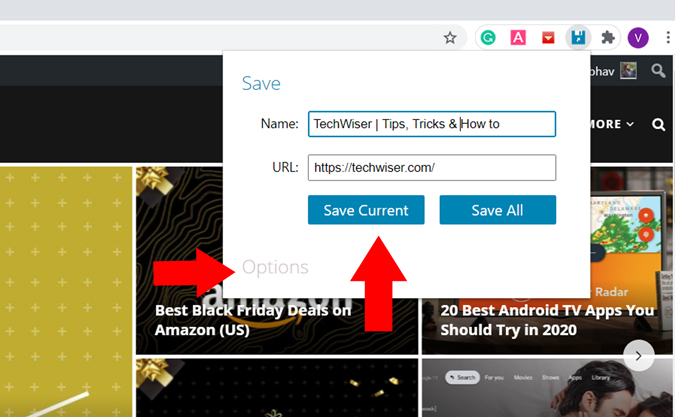Save Website as desktop shortcut in chrome