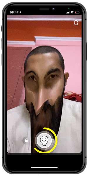 face melt snapchat filter