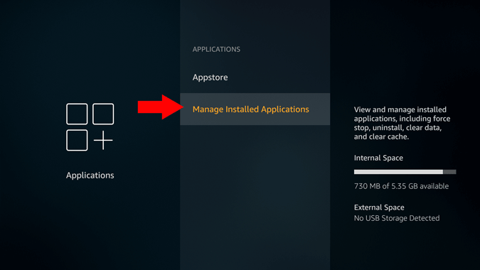 firestick manage installed apps