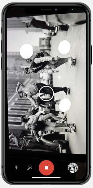 photoscan app capturing a photo