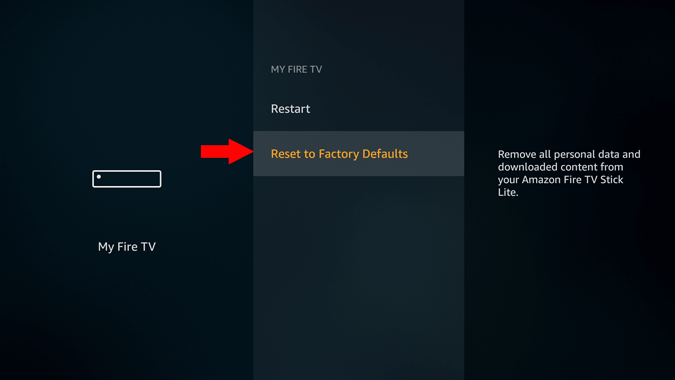 firestick reset settings