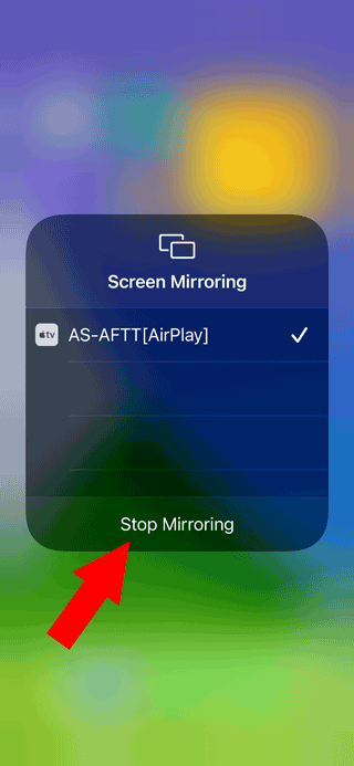 Stop Mirroring on iPhone