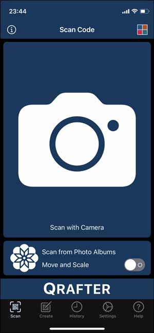 qrafter to scan qr code from an image.