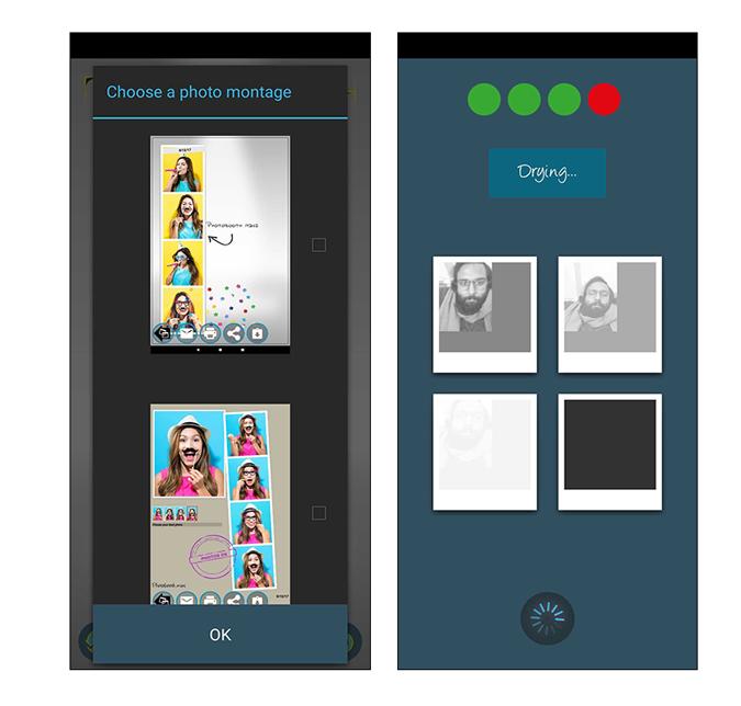 Photobooth mini app ui