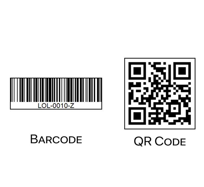 barcode and qr code side by side