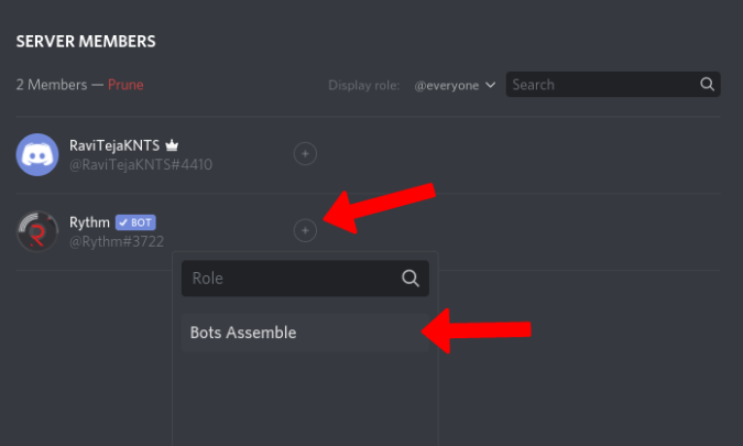 Giving role to a Discord bot