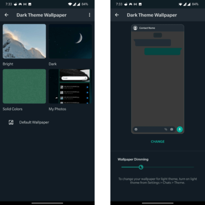 set separate wallpaper for each whatsapp chat