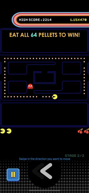 new pac man as an app on iphone