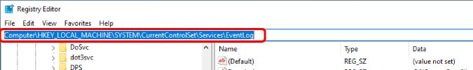 url on registry editor