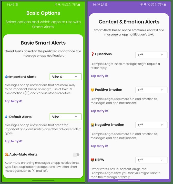 said smart alert app with filter smart alerts dnd