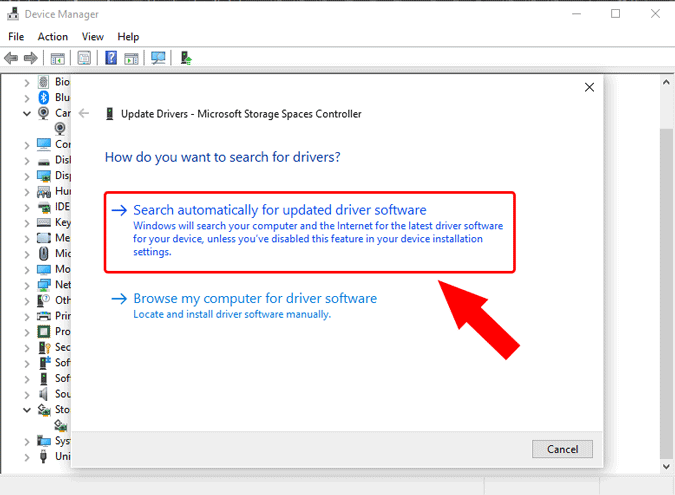 search online drivers for windows 10 storage controller