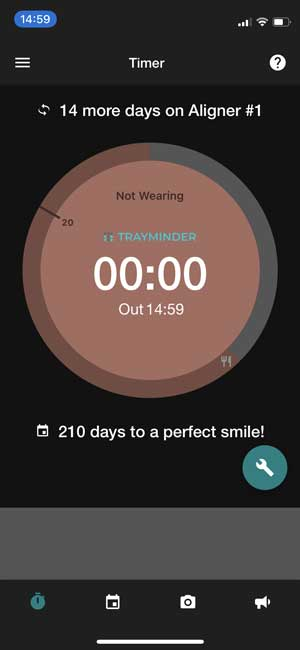 trayminder- remind about wearing retainer and invisalign
