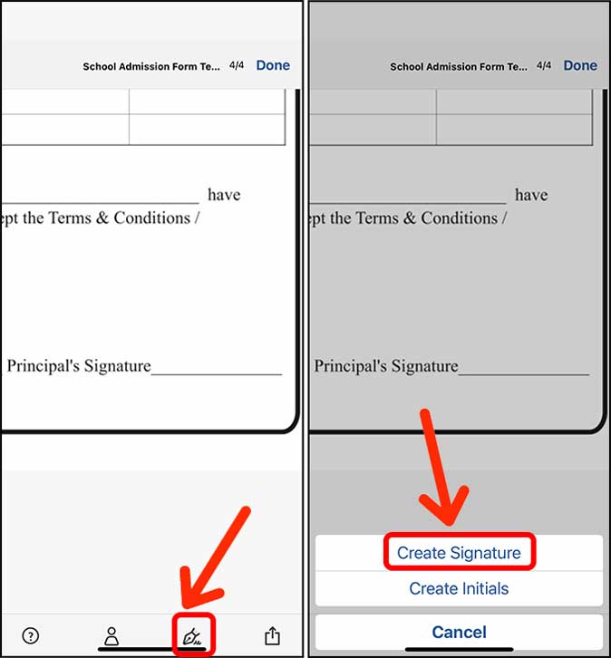 create a signature in adobe on iphone