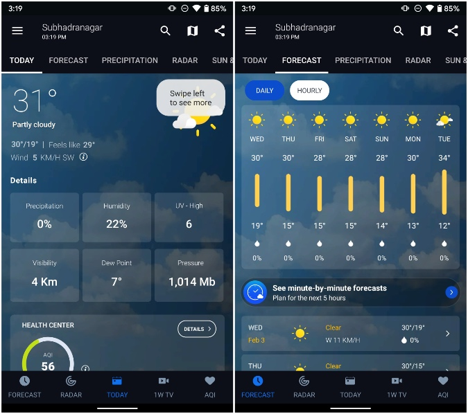 1weather for galaxy device