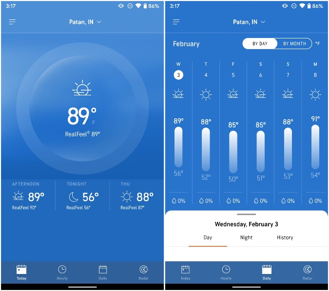 accuweather for samsung phone