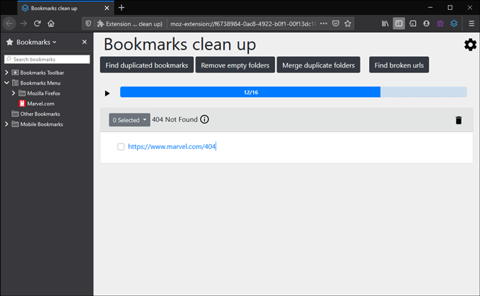 bookmark clean up for firefox