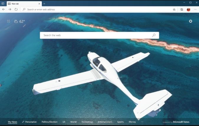 download flight simulator theme on microsoft edge