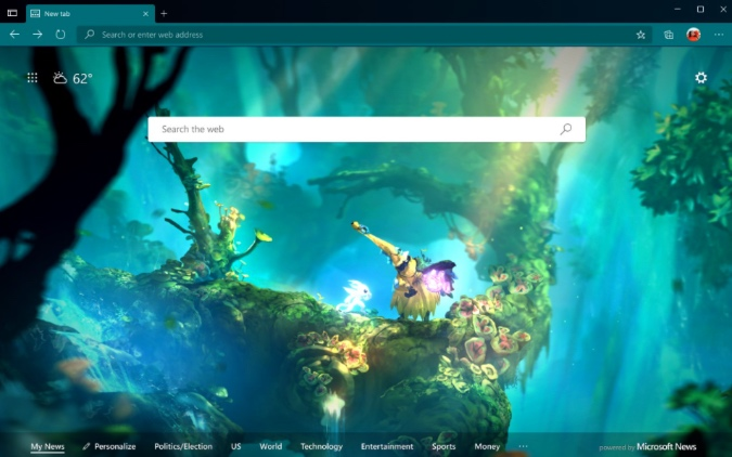 forest theme for microsoft edge