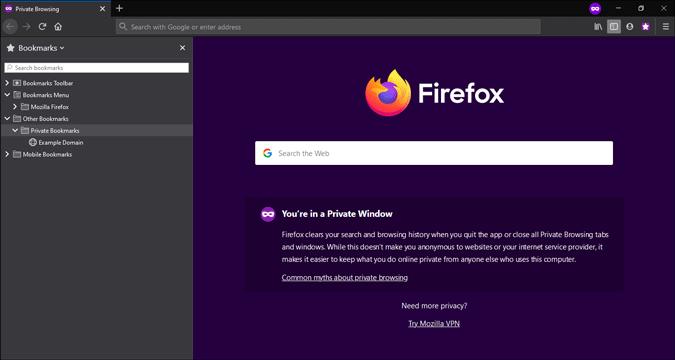 password protected firefox bookmark