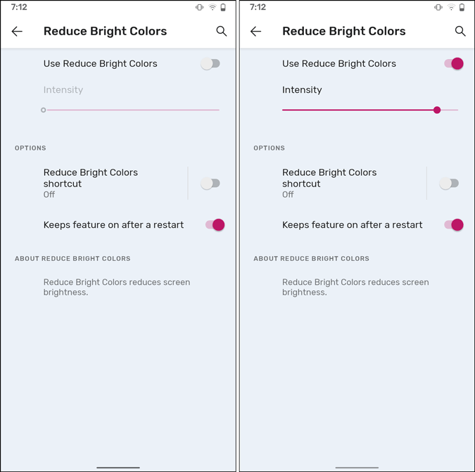 reduce bright colors android 12