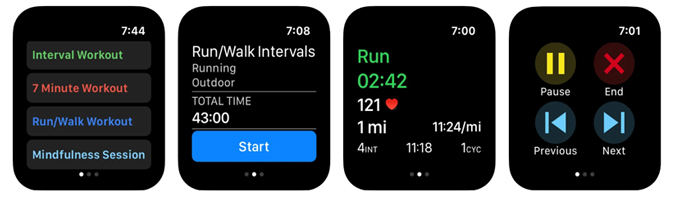 Intervals Pro HIIT workout app for Apple Watch