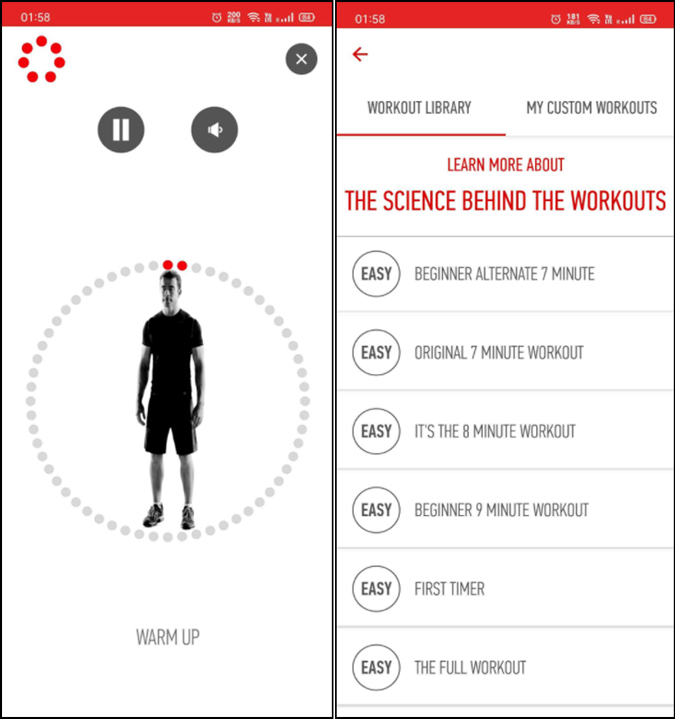 7 minute HIIT workout app