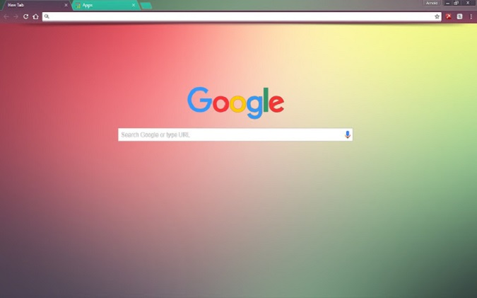 gradient theme in chrome browser