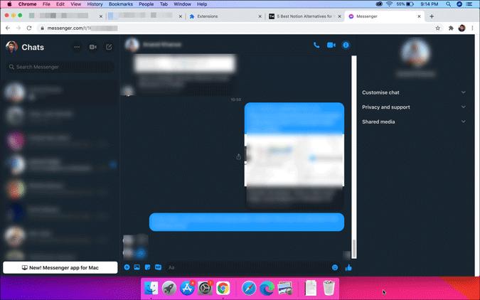 enable dark mode on messenger using chrome extension