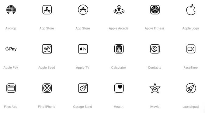 icons8- free ios 14 icon pack