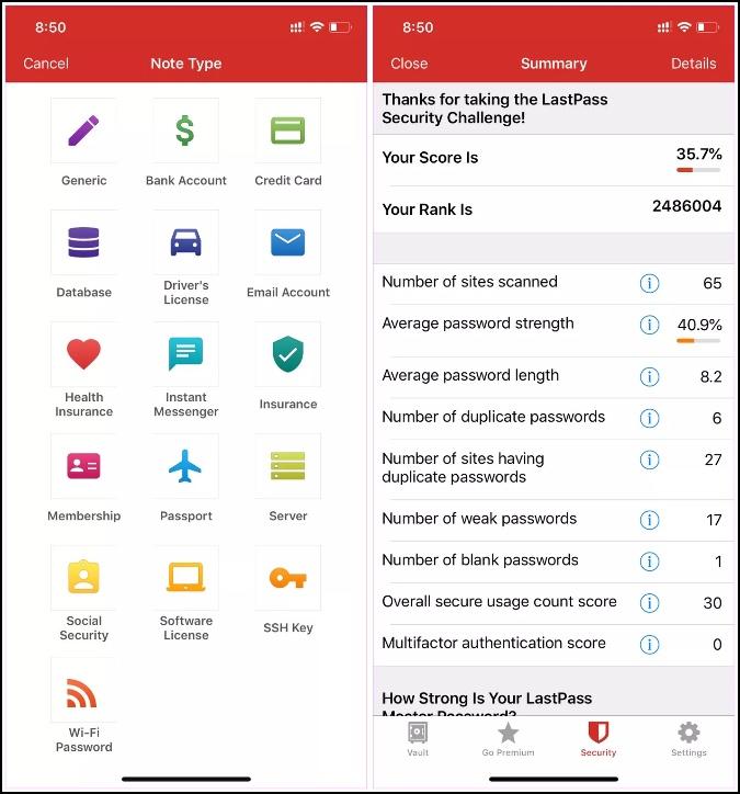 lastpass mobile apps