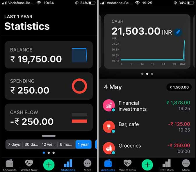beautifully designed app- Wallet to take care of expenses in the home