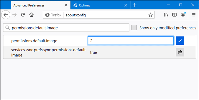 disable loading image on firefox