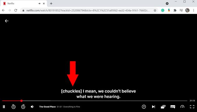 Closed Caption on Netflix