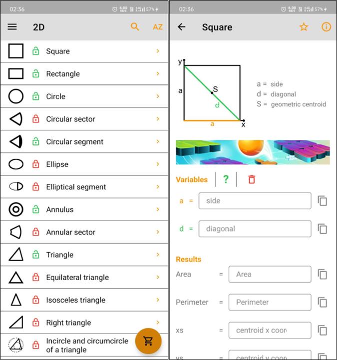 Geometery solver app