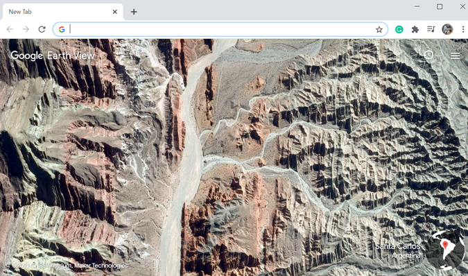 Google Earth View new tab Chrome extension