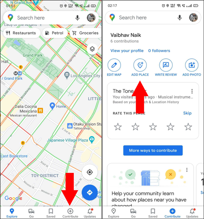 Add a missing place in Google Maps