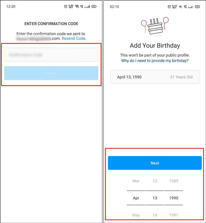 Add account details to Instagram