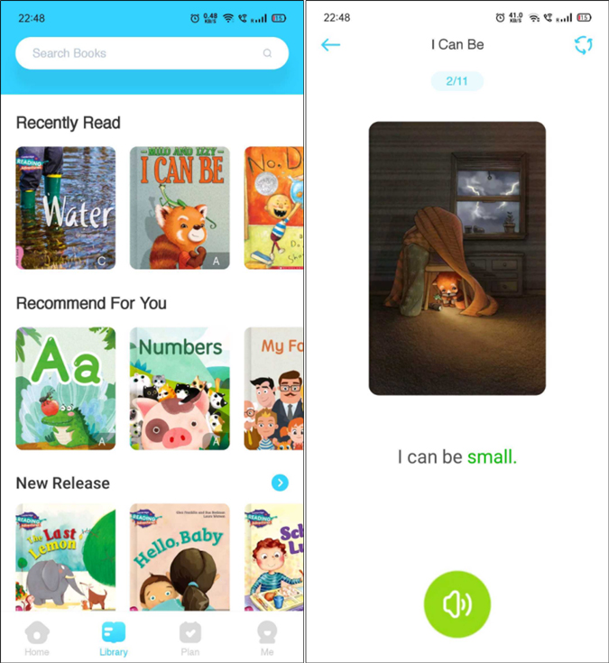 PalFish reading reading app for kids