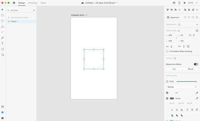 Adobe XD User Interface